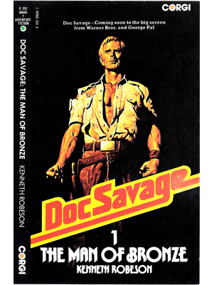 Doc Savage by Terence J Gilbert Gouache on Board